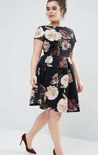 🐋Floral Plus size dress