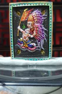 Haruman Thep Bin behind Takrut and Gems Strongly Blessed by Kruba Krissanna BE : 2561 Powerful on Popularity and Protection