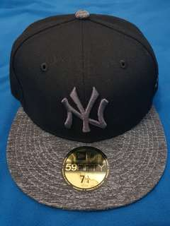New Era 59Fifty Fitted Cap NY Yankees Graphite (100% Original)