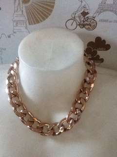 Authentic Mango Rosegold Chain Necklace