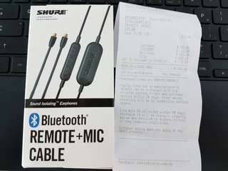 Brand new shure Bluetooth remote + mic cable