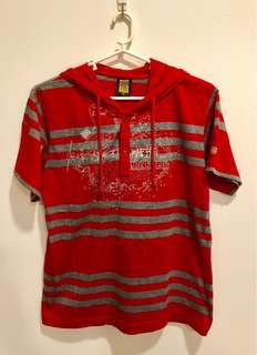 BNWOT Authentic Red Dickies T-Shirt with Hood (Size 14)