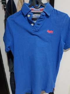 SUPERDRY POLO BLUE SIZE S