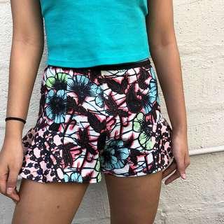 (SALE) Zara Floral Shorts