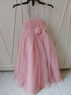 New Pink Flower Girl Gown