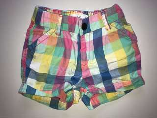 H&M colorful rainbow shorts