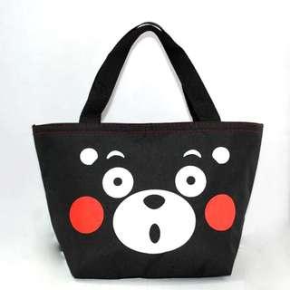 熊本熊環保袋 便當保溫包手提袋鋁箔飯盒袋午餐包防水牛津布保鮮冰包