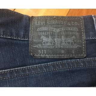 LEVIS 511 W32 L34 丹寧牛仔褲 經典款