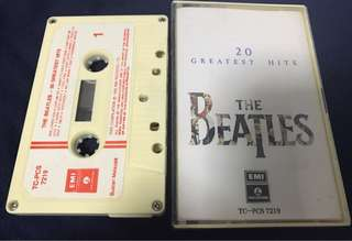 THE BEATLES - 20 GREATEST HITS CASSETTE TAPE 卡帶 錄音帶