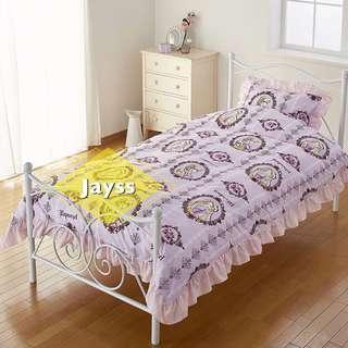 代購 迪士尼 長髮公主 樂佩 單人床單套裝(床單、被套、枕袋)