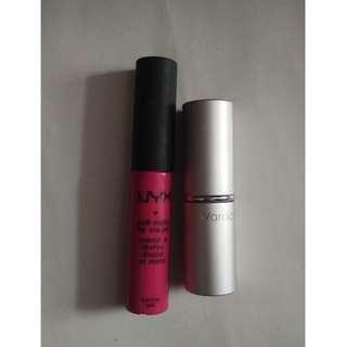 Lipstick Wardah bonus lipcream NYX soft cream