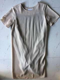 ASOS UK 8 Maternity dress (beige/black)