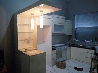 Kitchen sett, lemari baju, lemari bawah tangga, backdrobeTV