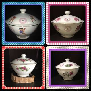 "Vintage 6"", 7"" and 8"" Bowls With Lid"