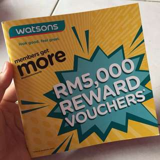 RM5,000 REWARD VOUCHERS WATSON