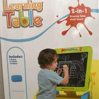 BNIB 2-in-1 Drawing Table Chalk board