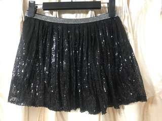 亮片黑色短裙