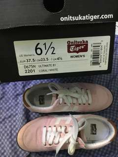 Pink Onitsuka Rubber shoes