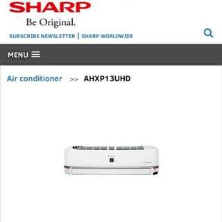 Sharp aircond1.5hp ahxp13uhd