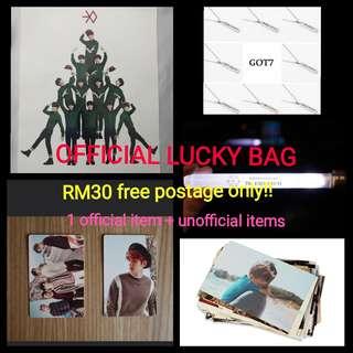 KPOP EXO SUPER JUNIOR SHINEE GOT7 official lucky bag
