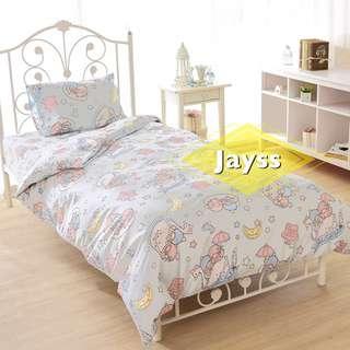 代購 Sanrio Little Twin Stars 雙子星 單人床單套裝(床單、被套、枕袋)