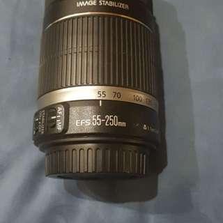 Lensa Zoom Canon Tele EFS 55-250mm