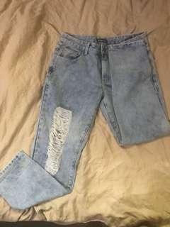 Something Borrowed: Ripped Boyfriend Jeans
