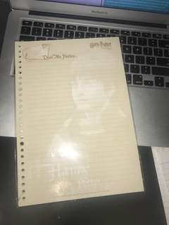 AUTHENTIC HARRY POTTER NOTEBOOK PAPER