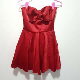 2for$22 F21 Deep Red Party Dress