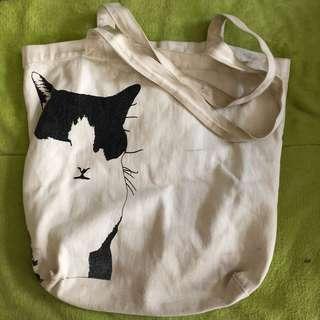貓咪🐈肩背帆布包