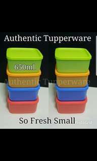 Authentic Tupperware  So Fresh Small 650ml (4) Retail Price S$37.20 Now S$26.00/Set small