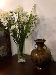 Vintage Brass-like Decorative Jar