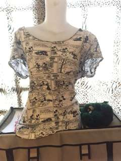 Uniqlo comic blouse