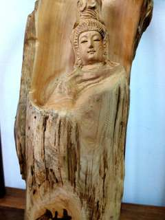Old Wooden guan yin(wood craving)