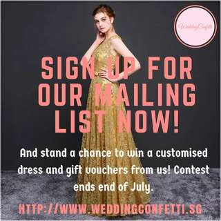 Sign Up For Our Mailing List Now!