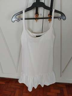 Duo Collezione White Linen Dress