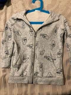 #seed boys grey hooded light jacket