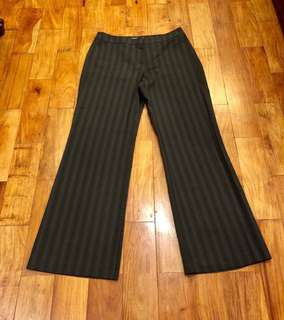 Marks & Spencer Black & Gray Striped Office Slacks (UK 10)