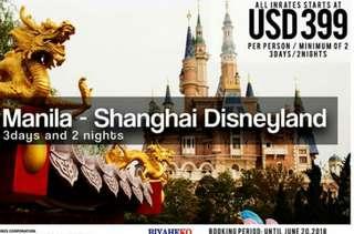 Manila to Shanghai Disneyland