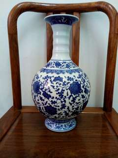 Blue flower vase (medium)