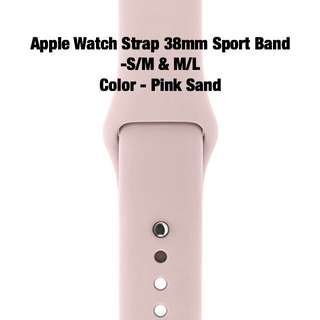 Apple Watch Strap 38mm Sport Band S/M & M/L (Color - Pink Sand)