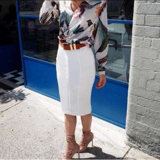 Sheike white skirt size8