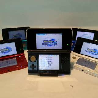 Nintendo 3DS Handheld Console (Modded) + Pokemon Ultra Sun + Super Mario 3D Land + 25 Games