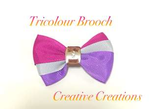 <Free Postage> Tricolour Brooch