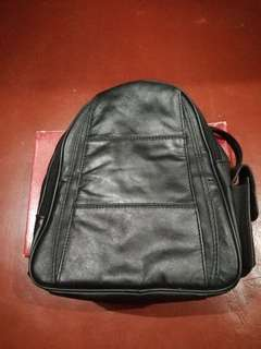 Genuine Leather Backpack from Italy