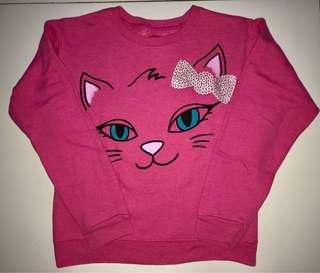 Hanes pink cat sweater