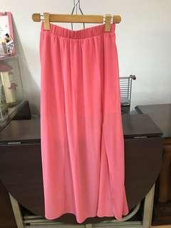 Forever 21 maxi skirt with slit
