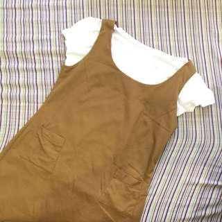 Korean tan dress/ jumper