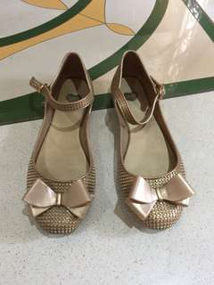 Mel flats with ribbon & strap Authentic