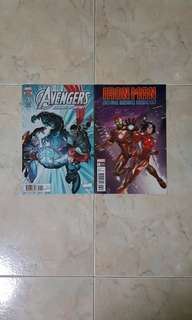 """Avengers """"Shards of Infinity"""" & Iron Man """"Hong Kong Heroes"""" (Marvel Comics 2 Issues, both one-shot stories)"""